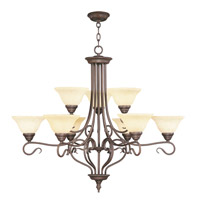 Livex Lighting Coronado 9 Light Chandelier in Imperial Bronze 6188-58