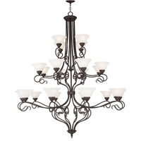 Coronado 22 Light 56 inch Bronze Chandelier Ceiling Light in White Alabaster