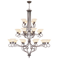 Livex Lighting Coronado 22 Light Chandelier in Imperial Bronze 6189-58