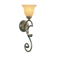 Livex Lighting Wellington 1 Light Wall Sconce in Windsor Walnut 6211-62