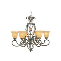 Wellington 6 Light 30 inch Windsor Walnut Chandelier Ceiling Light