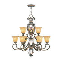 Livex Lighting Wellington 9 Light Chandelier in Windsor Walnut 6219-62