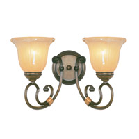 Livex Lighting Wellington 2 Light Bath Light in Windsor Walnut 6222-62