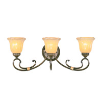 Livex Lighting Wellington 3 Light Bath Light in Windsor Walnut 6223-62