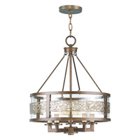 Livex 6257-64 Waverly 5 Light 18 inch Palacial Bronze with Gilded Accents Chandelier Ceiling Light