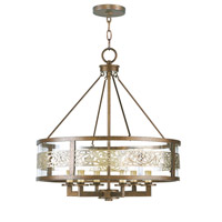 Livex 6258-64 Waverly 6 Light 22 inch Palacial Bronze with Gilded Accents Chandelier Ceiling Light