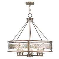Livex 6259-64 Waverly 8 Light 26 inch Palacial Bronze with Gilded Accents Chandelier Ceiling Light