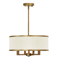 Park Ridge 4 Light 18 inch Hand Painted Antique Gold Leaf Chandelier Ceiling Light
