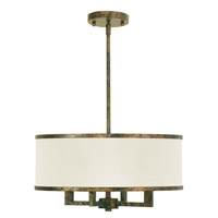 Livex Park Ridge 4 Light Chandelier in Hand Applied Venetian Golden Bronze 62613-71