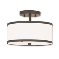 Livex 62626-07 Park Ridge 2 Light 11 inch Bronze Semi Flush Mount Ceiling Light