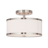 Park Ridge 2 Light 11 inch Brushed Nickel Semi Flush Mount Ceiling Light