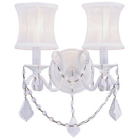 Livex 6302-03 Newcastle 2 Light 12 inch White Wall Sconce Wall Light