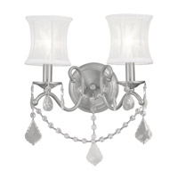 Livex 6302-91 Newcastle 2 Light 12 inch Brushed Nickel Wall Sconce Wall Light