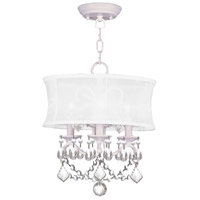 Livex Lighting Newcastle 3 Light Pendant/Ceiling Mount in White 6303-03