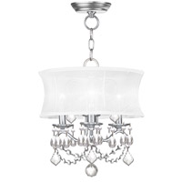Livex 6303-91 Newcastle 3 Light 13 inch Brushed Nickel Pendant/Ceiling Mount Ceiling Light