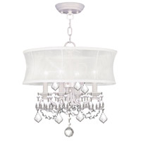 Livex Lighting Newcastle 4 Light Pendant/Ceiling Mount in White 6304-03