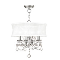 Livex Lighting Newcastle 4 Light Pendant/Ceiling Mount in Brushed Nickel 6304-91