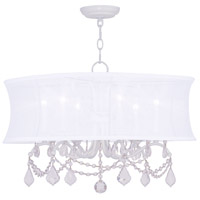 Livex Lighting Newcastle 6 Light Chandelier in White 6306-03