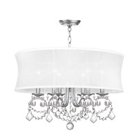Newcastle 6 Light 24 inch Brushed Nickel Chandelier Ceiling Light