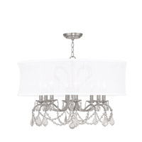 Livex 6308-91 Newcastle 8 Light 28 inch Brushed Nickel Chandelier Ceiling Light