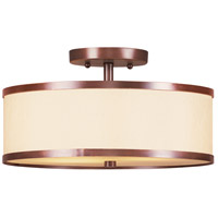 Livex Lighting Park Ridge 2 Light Ceiling Mount in Vintage Bronze 6343-70