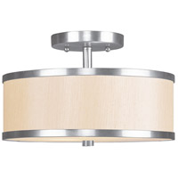 Livex Lighting Park Ridge 2 Light Ceiling Mount in Brushed Nickel 6343-91