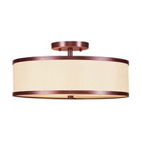 Livex Lighting Park Ridge 2 Light Ceiling Mount in Vintage Bronze 6344-70