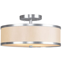Livex Lighting Park Ridge 2 Light Ceiling Mount in Brushed Nickel 6344-91