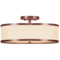 Livex Lighting Park Ridge 3 Light Ceiling Mount in Vintage Bronze 6345-70