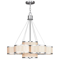 Livex 6346-91 Park Ridge 7 Light 26 inch Brushed Nickel Chandelier Ceiling Light