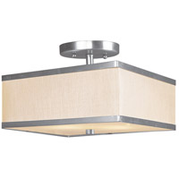 Livex Lighting Park Ridge 2 Light Ceiling Mount in Brushed Nickel 6347-91