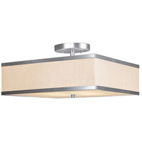 Livex Lighting Park Ridge 3 Light Ceiling Mount in Brushed Nickel 6349-91