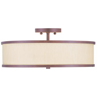 Livex Lighting Park Ridge 3 Light Ceiling Mount in Vintage Bronze 6350-70