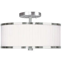 Livex Lighting Park Ridge 2 Light Ceiling Mount in Brushed Nickel 6364-91