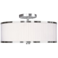 Livex Lighting Park Ridge 3 Light Ceiling Mount in Brushed Nickel 6365-91