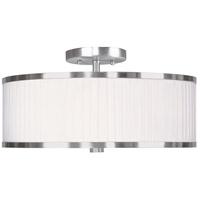 Livex 6365-91 Park Ridge 3 Light 15 inch Brushed Nickel Ceiling Mount Ceiling Light