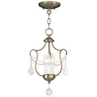 Livex 6420-01 Chesterfield 3 Light 10 inch Antique Brass Pendant/Ceiling Mount Ceiling Light