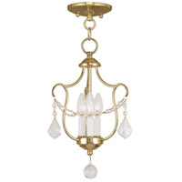 Livex Lighting Chesterfield 3 Light Pendant/Ceiling Mount in Polished Brass 6420-02