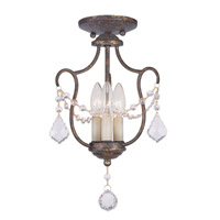 Livex Lighting Chesterfield 3 Light Pendant/Ceiling Mount in Venetian Golden Bronze 6420-71