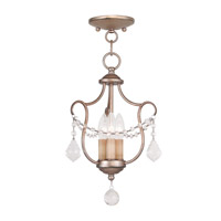 Livex Lighting Chesterfield 3 Light Pendant/Ceiling Mount in Antique Silver Leaf 6420-73