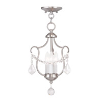 Livex Lighting Chesterfield 3 Light Pendant/Ceiling Mount in Brushed Nickel 6420-91