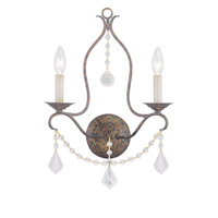 Livex Lighting Chesterfield 2 Light Wall Sconce in Venetian Golden Bronze 6422-71
