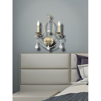 Livex 6422-73 Chesterfield 2 Light 12 inch Antique Silver Leaf Wall Sconce Wall Light alternative photo thumbnail