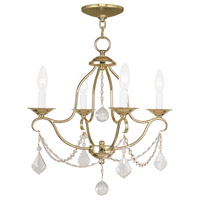 Chesterfield 4 Light 18 inch Polished Brass Mini Chandelier Ceiling Light