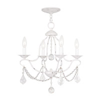 Livex 6424-60 Chesterfield 4 Light 18 inch Antique White Mini Chandelier Ceiling Light