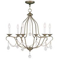 Livex 6426-01 Chesterfield 6 Light 25 inch Antique Brass Chandelier Ceiling Light