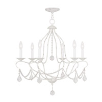 Livex 6426-60 Chesterfield 6 Light 25 inch Antique White Chandelier Ceiling Light
