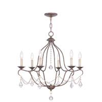Livex 6426-71 Chesterfield 6 Light 25 inch Venetian Golden Bronze Chandelier Ceiling Light