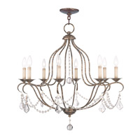 Chesterfield 8 Light 28 inch Venetian Golden Bronze Chandelier Ceiling Light