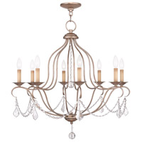 Livex Lighting Chesterfield 8 Light Chandelier in Antique Silver Leaf 6427-73